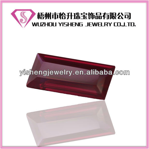 Faceted Synthetic Red Corundum Rough