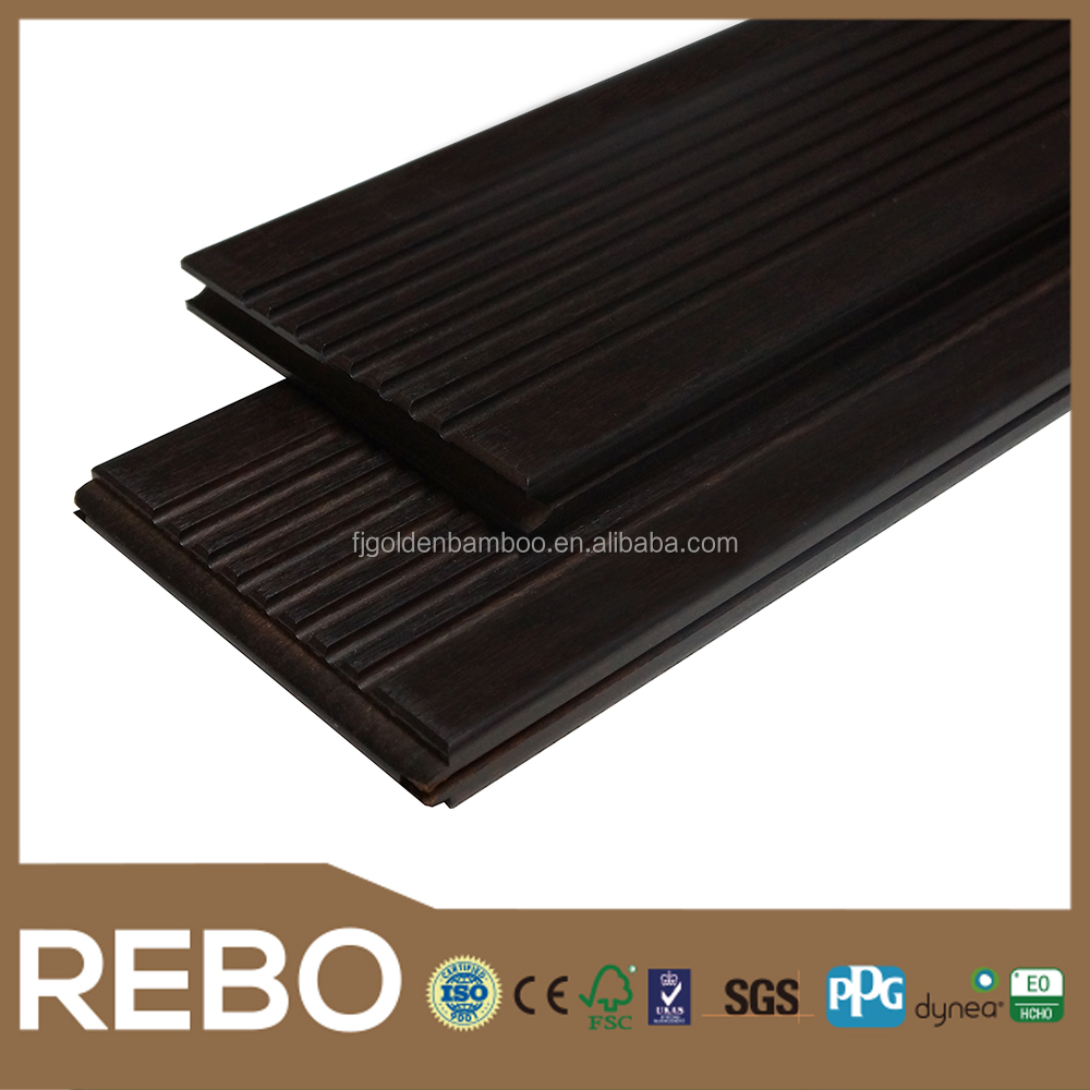 Eco forest outdoor decking solid bamboo flooring strand woven