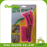 Microfiber window blind cleaning brush