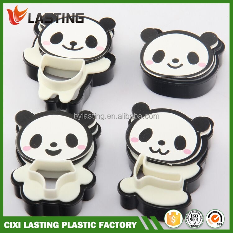 4 Pcs Cartoon Panda Fondant Cake Cookie Decorating Mold ...