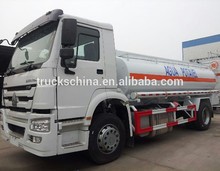 2015 Sinotruk HOWO oil tank truck fuel delivery tanker truck for sale gas tank truck