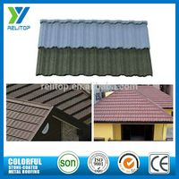 Al-Zinc Sand Chip Coated Low Cost Roof Tiles For Townhouse
