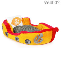 soft plush pirate boat design large pet bed with cushion with pet costume
