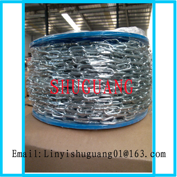High Quality Q235 Zinc Plated Mild Steel Link Chain