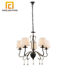 NICE lighting 5-light modern European style white shade exotic expensive chandelier