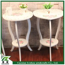 elegant flower patten solid wood cooffee table
