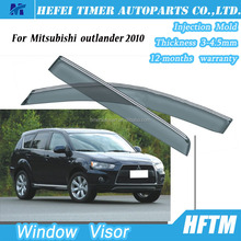 Quality guaranteed window rain visor for Mitsubishi outlander 2010