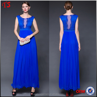 Wholesale royal blue color evening gown oem fashion mother of the bride dress