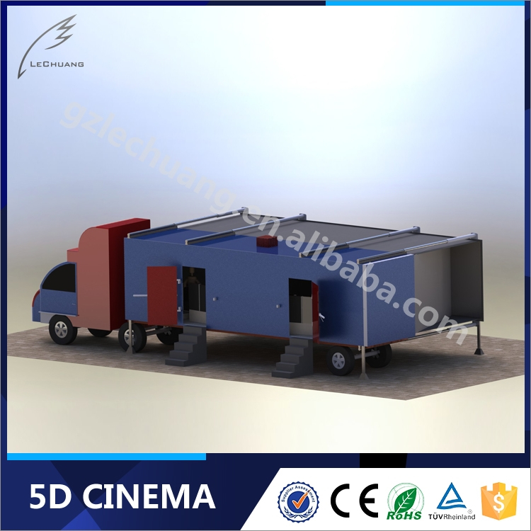 Wholesale Alibaba Big Gun Shooting Trailer 5D 6D 7D Cinema With Cabin And Wheels