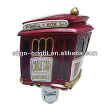 cable car shaped night light for children rotating led night lamp
