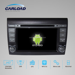 Android 5.1 car dvd player 2 din autoradio for fiat bravo