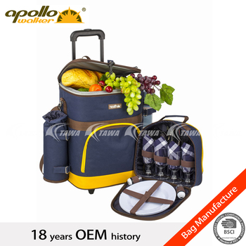 4 Person Trolley Picnic Bag with carrhing handle