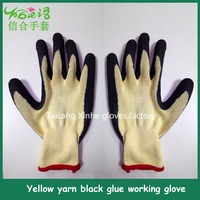 Wholesale gray rubber coated cotton glove safety gloves