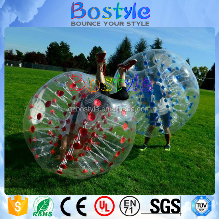 Top Quality 1.0mm TPU Inflatable Bumper Ball / Bubble ball for Rental