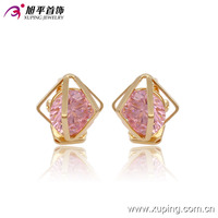 91238-xuping wholesale single 18k gold stone small earring