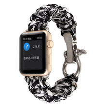 Hot selling for apple iwatch band, for apple watch 550 paracord rope strap