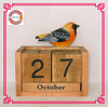 2015 hot sale bird wooden gifts, wooden calendar
