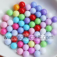 4/5/6/8/10/12/14/16/18/20 MM Fashion Loose Beads for Jewelry Making wholesale round plastic jewelry without hole