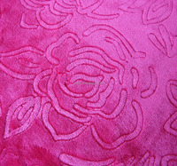 3d floral embossed fleece fabric for pajama/blanket/bedding