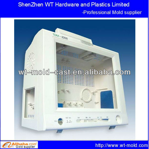 Electrocardiogram monitor shell cover injection molding