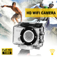 Wholesale 30 pcs / lot ! wifi full hd 1080p action camera waterproof 50m design