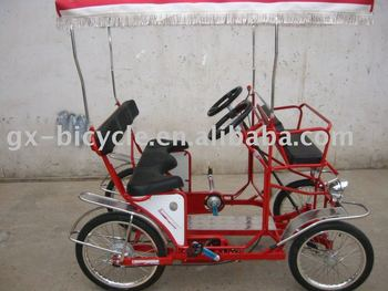 Red Four Wheels Entertainment Bicycle