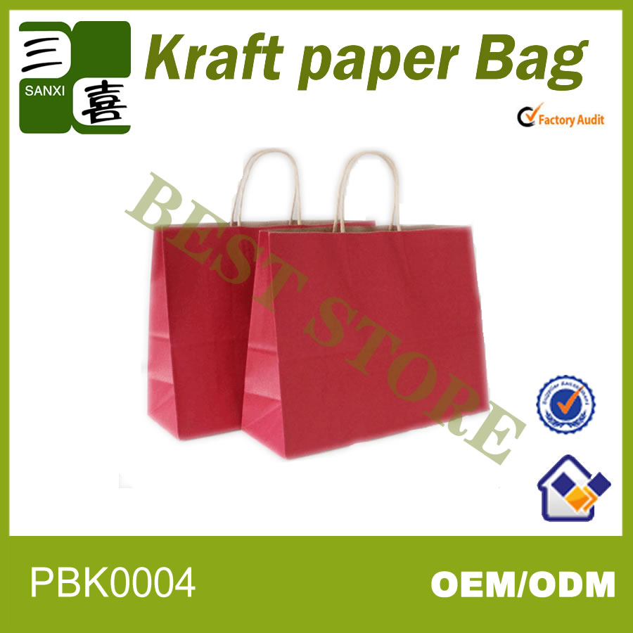 High quality with best price kraft paper bag for famous Japan brand SONY