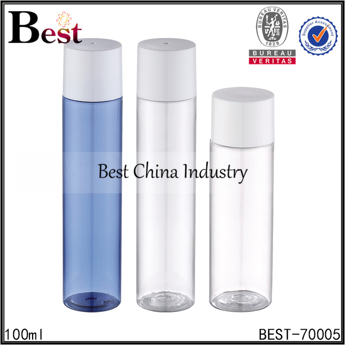 albaba 100ml 150ml cosmetic container lotion screw top clear beautiful plastic bottle