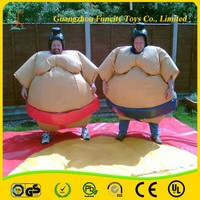 New design inflatable sumo wrestling suit/body fighting sumo suit /sumo wrestler costume for kids and adult