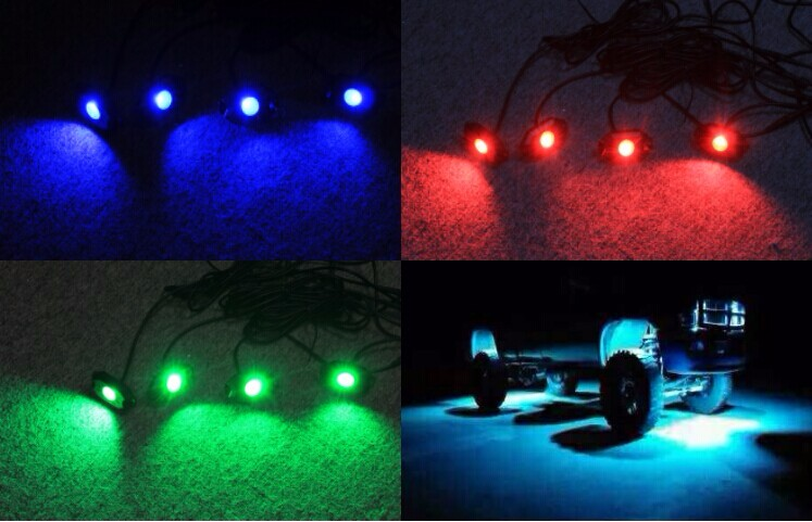 Hot 4 pod LED mini rock light for ATV UTV Motorcycle boat jeep with RGB color