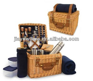 Willow Picnic Time Basket for 2