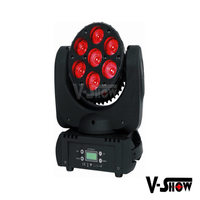 High speed 7x12w RGBW 4in1 mini leds beam moving head manual lights for stage party