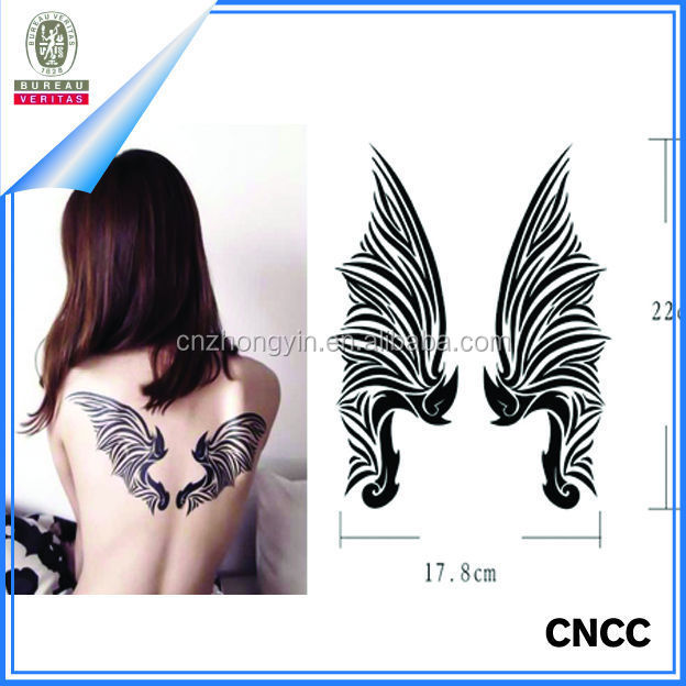 Beautiful Angel Wings body tattoo stickers/waterproof temporary tattoo/body art