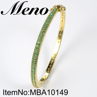 Meno Bangles Shinning Luxury design 18k Gold Plated CZ Bangle jewelry for ladies