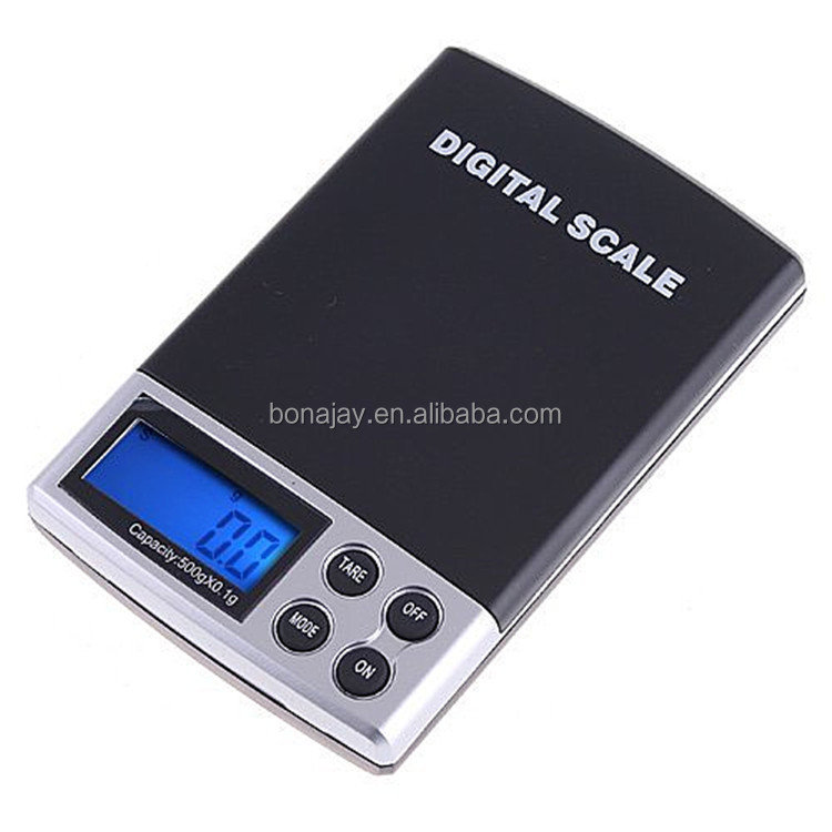 500G/0.1 LCD Pocket Digital Precision Jewelry Gold Gram Balance Weight Scale