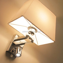 Zhongshan factory elegant bedside lamp cheap wall sconce hotel room lamp