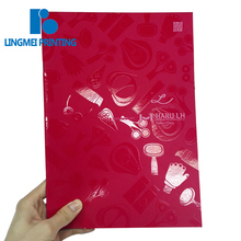 A4 size cheap price red spot uv saddle stitch binding beauty apparatus softcover catalogue / brochure / magazine book printing