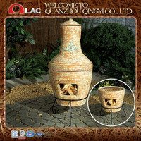 customized size classic grey antique Mexican terracotta clay chimineas for sale