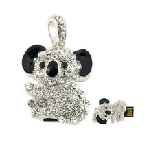 2015 New Design Diamond Koala USB Flash Drives USB 2.0 Pen Drive 32GB 16GB 8GB 4GB pendrives U disk