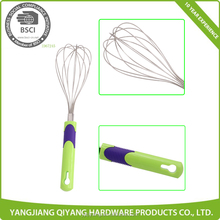 Plastic Handle Blender Stainless Steel Egg Wisk Mixing Kitchen Cooking Tools