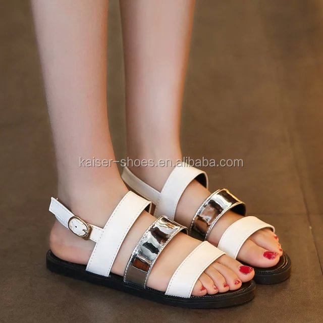 MN16112410 2016 new fashion lady shoe peep toe shoe pantshoes flat sandals