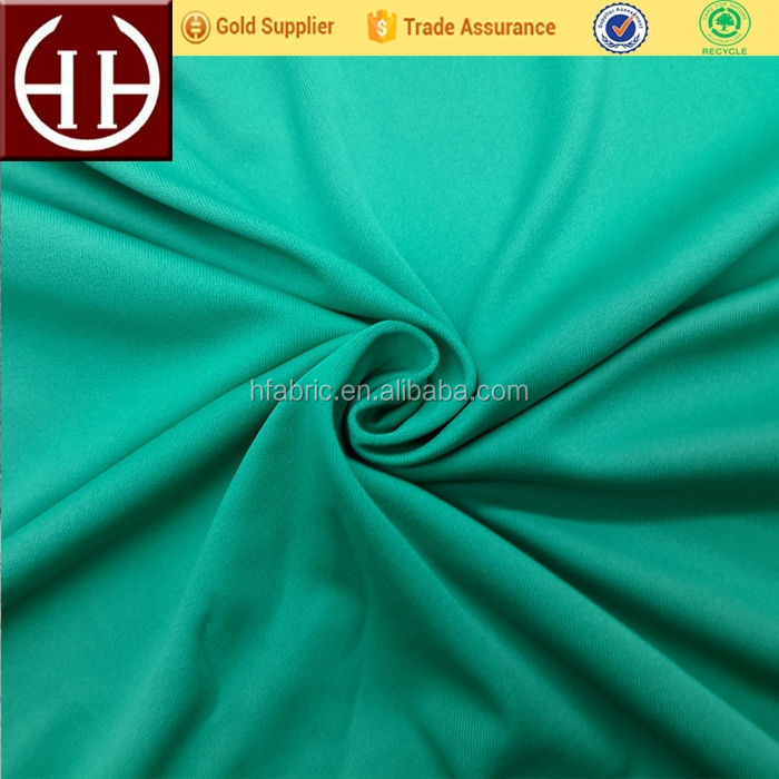 Hotsale solid color 100 polyester jersey knit fabric anti pilling satin knitted fabric for singlet/sport t shirts