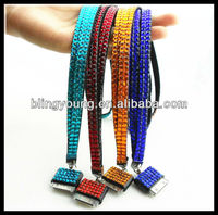Hot selling rhinestone lanyard for Iphone 5 with cheapest price BY-1822
