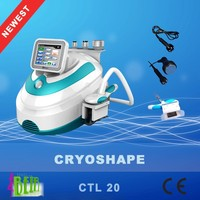 Portable 3 in 1 cool lipolysis cryo lipo freezing fat slimming maching for home / spa salon