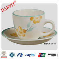 Elegance Tea Cup Saucer/High Quality Ceramic Mugs/Drum Shape Decal Cups Saucers