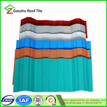 Fireproofed one layer pvc roof sheet in different color for house