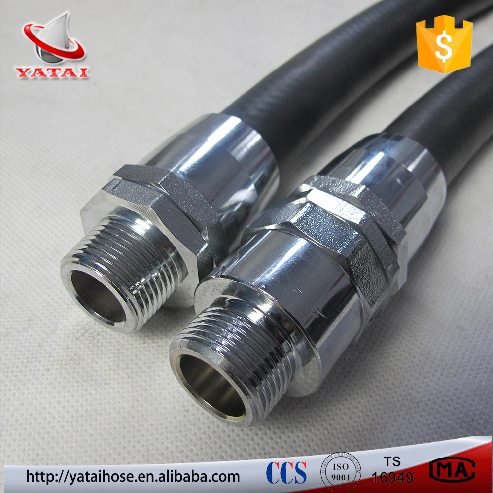 Weather Resistance Oil And Petroleum Two Wire Braid Gasoline Hydraulic Hose R2AT