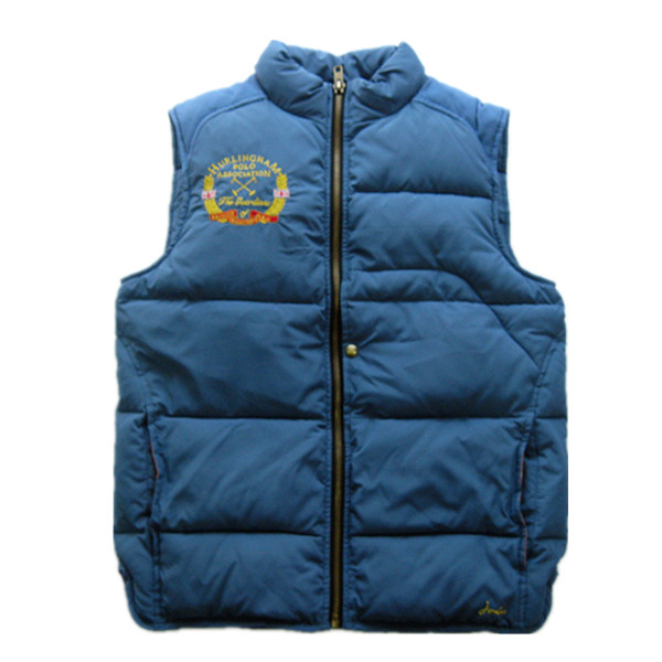 Male quilted Vest, thick padding no sleeve jacket cotton sleeveless jackets for men