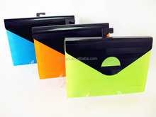 office stationery Velcro plastic pockets file folder expanding file