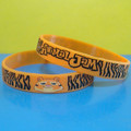 Recessed Ink Filled Silicone Wristbands/Customized Silicone Wristbands